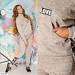 Спортивный женский костюм со шнуровкой (Батал), фото 5