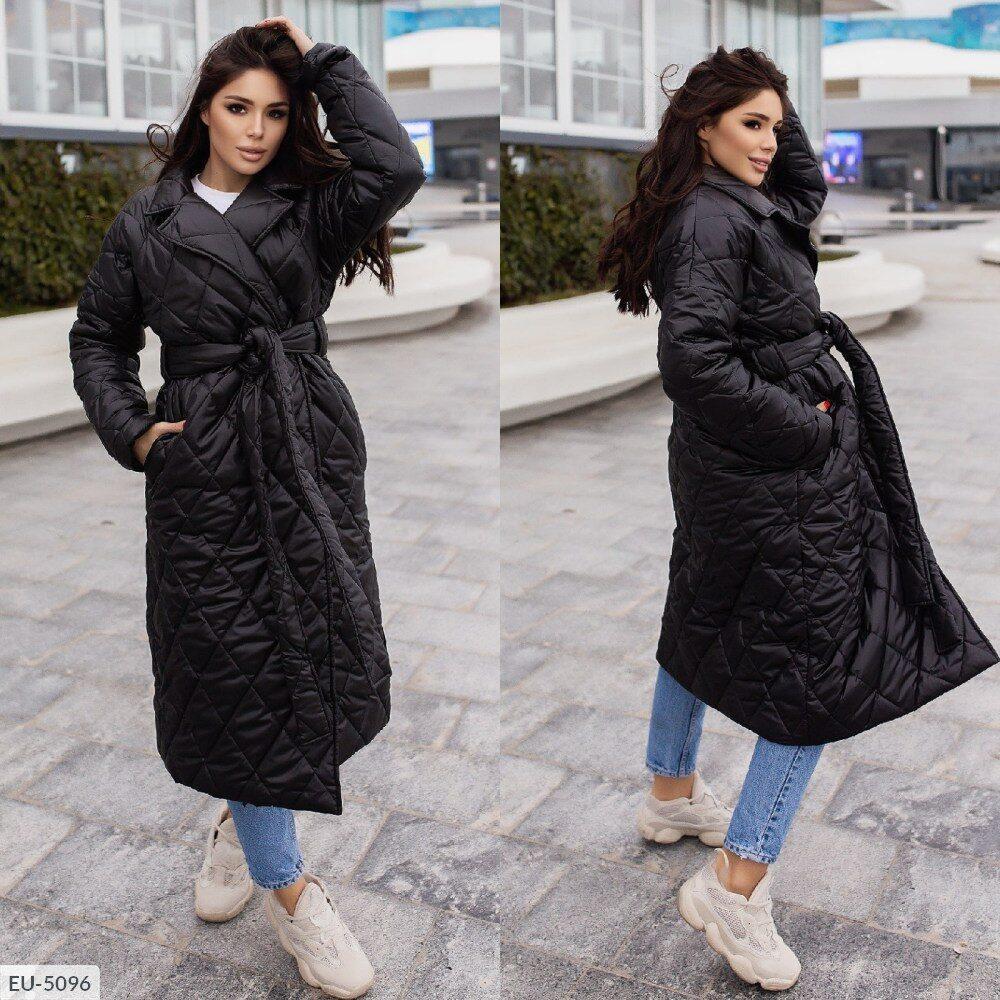 Женское стёганное пальто (Батал)