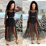 Чёрное платье боди с фатином, фото 2