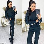 Женский зимний спортивный костюм трехнитка на флисе с лампасами (Батал), фото 4