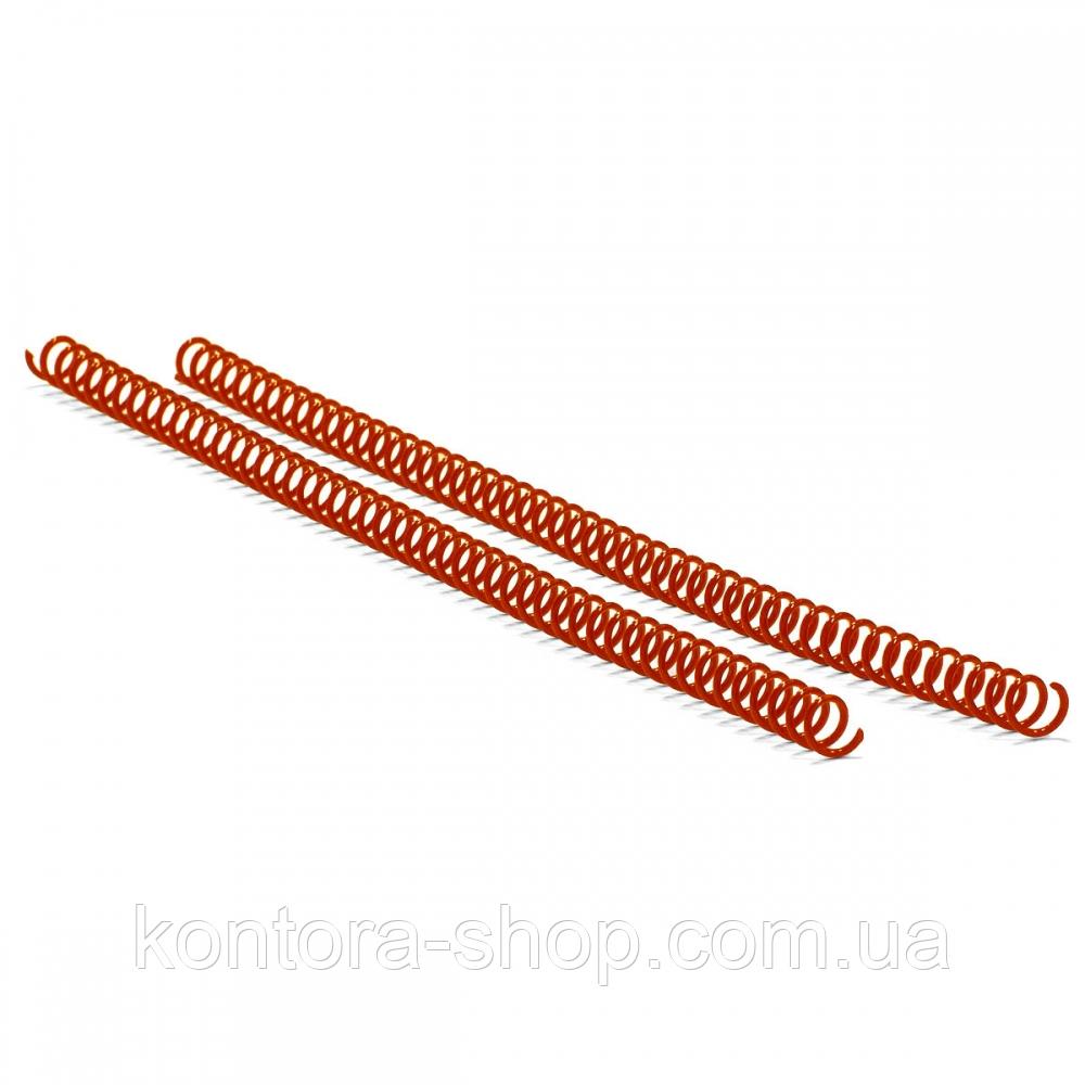 Спираль пластиковая А4 19 мм (4:1) красная, 100 штук