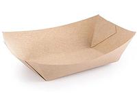 Лодочка тарелка бумажная 18х10х4.5 см