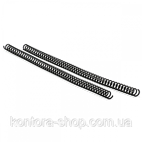 Спіраль пластикова А4 14,3 мм (3:1) чорна, 100 штук