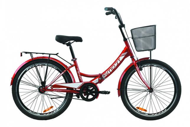 """Велосипед 24"""" Formula SMART с корзиной 2020 (красный), фото 2"""