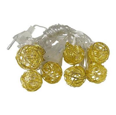 Гирлянда светодиодная шары Xmas Golden Ball WW-1 Желтый свет