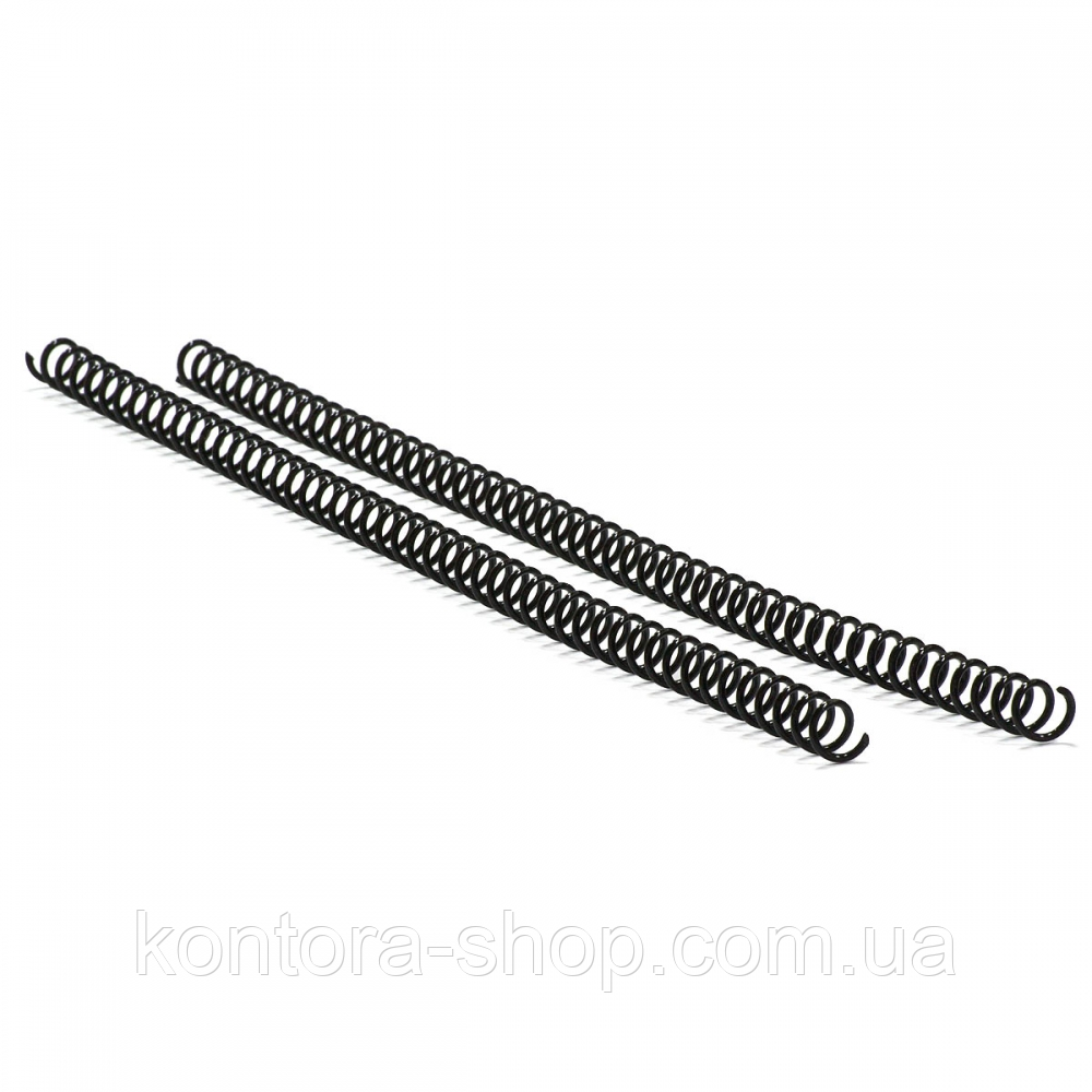 Спираль пластиковая А4 12,7 мм (3:1) черная, 100 штук
