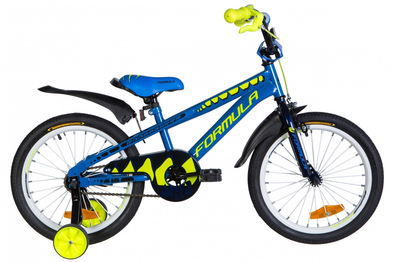 "Велосипед 18"" Formula WILD 2020 (синий с желтым)"