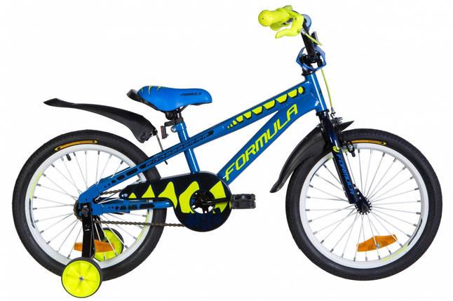 """Велосипед 18"""" Formula WILD 2020 (синий с желтым), фото 2"""