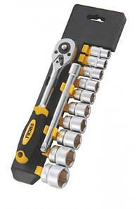 """Ключ-трещотка ¼"""" с набором насадок и удлиннителем 12шт CrV mid Sigma 6003501"""