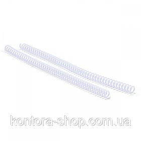 Спіраль пластикова А4 12,7 мм (3:1) біла, 100 штук