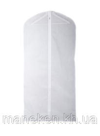 Чехол под одежду 60х170х20 со змейкой(белый)