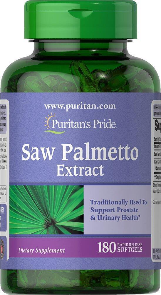 Puritan's Pride Saw Palmetto Extract, Сереноя, Со Пальметто (180 капс.)