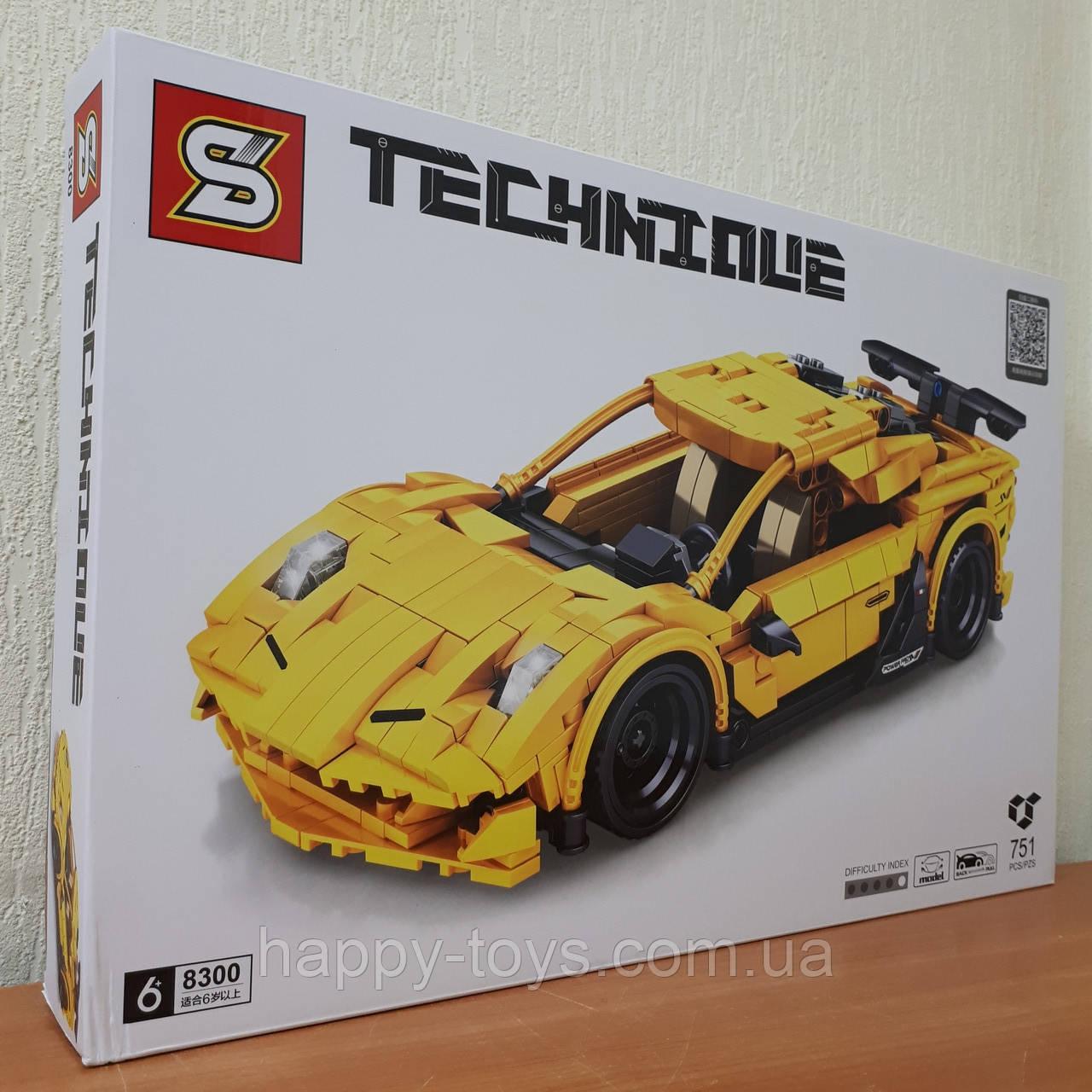Конструктор Lamborghini Aventador Ламборджини Sembo Block 8300 Техник 751 деталь