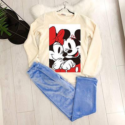 Жіноча піжама тепла Minnie Mouse blue