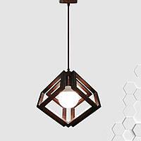 Подвесной светильник MOBIUS E27 на 1-лампу, темное дерево