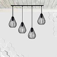 Підвісна люстра на 4-лампи FANTASY-4 E27 чорний