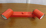 Спот поворотный на 2-лампы SLEEVE-2  E27 красный, фото 2