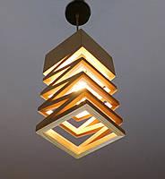 Подвесной светильник SPRING E27 на 1-лампу, светлое  дерево