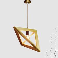 Подвесной светильник TRIANGLE E27 на 1-лампу, светлое дерево