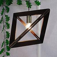 Подвесной светильник TRIANGLE E27 на 1-лампу, темное дерево
