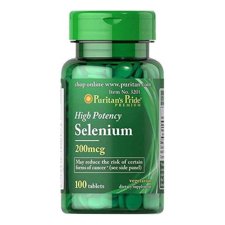 Puritan's Pride Selenium 200 mcg, Селен (100 таб.)