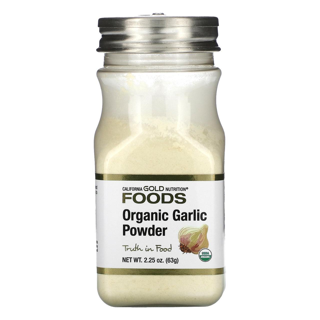 Органический чесночный порошок, 63 г, California Gold Nutrition