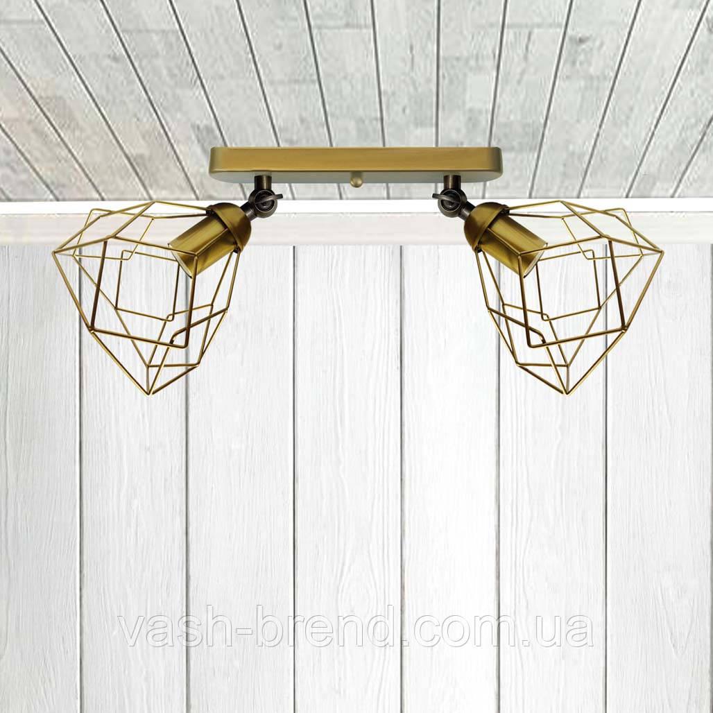 Светильник поворотный на 2-лампы RUBY/LS-2  E27 бра золото