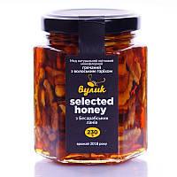 """Мед """"Вулик"""" Selected honey гречневый с грецким орех, 230г."""