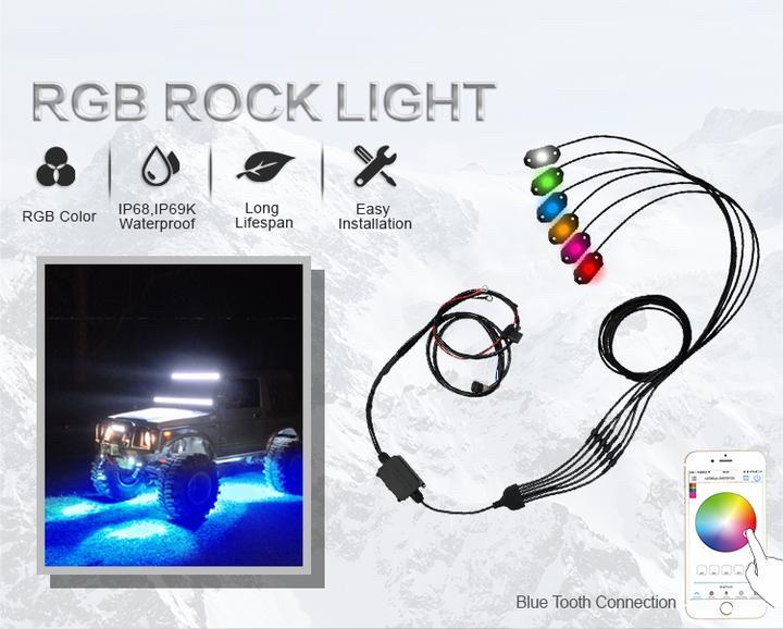 AURORA Rock Light RGB-D8 - Точечные светодиодные огни