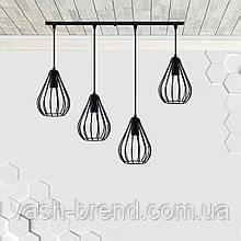 Подвесная люстра на 4-лампы FANTASY-4 E27 чёрный