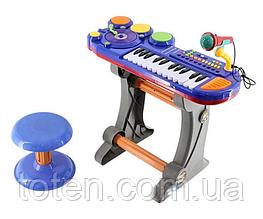 Детский синтезатор 14 клавиш со стульчиком и микрофоном BB69B/69D