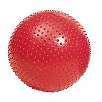 Мяч для фитнеса (с массажными шипами.). Диаметр 60 см.красный.