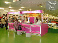 Нейл-бар розовый со световым коробом
