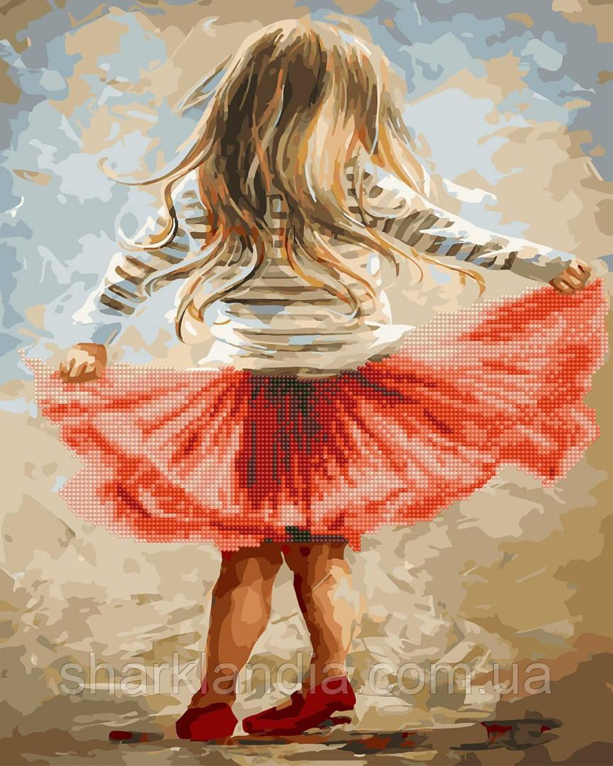 Маленькая танцовщица Алмазная картина-раскраска 2в1 40*50см