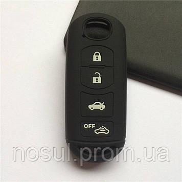 MAZDA чехол силикон ЧЕРНЫЙ для смарт карт ключей брелков ДУ авто защита от царапин вытираний заедания залипани