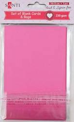 Набор розовых заготовок для открыток, 10см*15см, 230г/м2, 5шт.