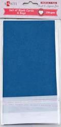 Набор темно-синих заготовок для открыток, 10см*20см, 230г/м2, 5шт.