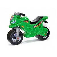 Детский беговел мотоцикл-каталка Орион 501-1G транспорт для детей толокар-мотоцикл цвет зеленый