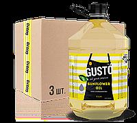 Упаковка Подсолнечного масла GUSTO 5л*3шт, ПЭТ