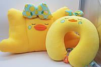 Набор подушек для ребенка Утята детские подушки обычная + дорожная Желтый