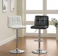 Стул  Даниэль, высокий барный стул ,  экокожа  черный
