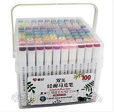 Набор скетч-маркеров 100 шт. для рисования двусторонних Aihao sketchmarker  PM508-100
