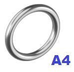 Кольцо сварное полированное 6х35мм нержавеющее А4 (20 шт/уп)