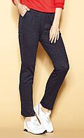 Женские летние брюки темно-синего цвета. Модель Donetta Zaps. Коллекция весна-лето 2021., фото 1