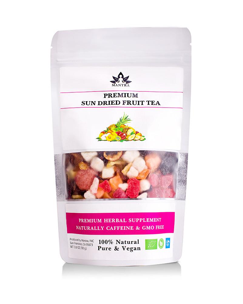 Фруктовий чай на вагу, чай з фруктів, мікс фруктів, смачний чай, чай фруктовий, чай з шматочками фруктів