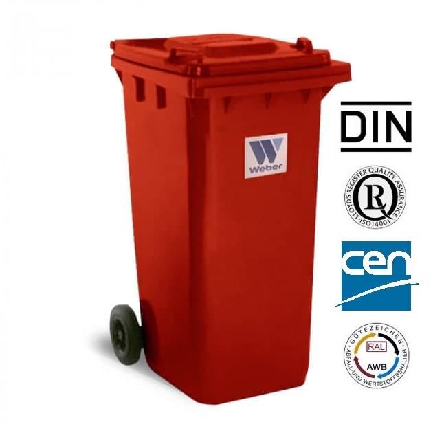Євроконтейнер пластиковий, Weber V-120 л, червоний