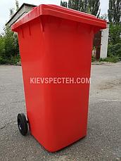 Євроконтейнер пластиковий, Weber V-120 л, червоний, фото 3