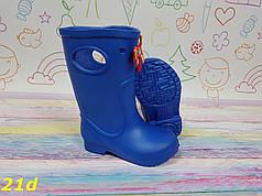 Детские резиновые сапоги непромокаемые голубые