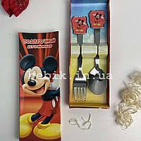 Подарунковий набір дитячих столових приладів Міккі Маус