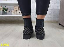 Ботинки деми на низком ходу черные, фото 3